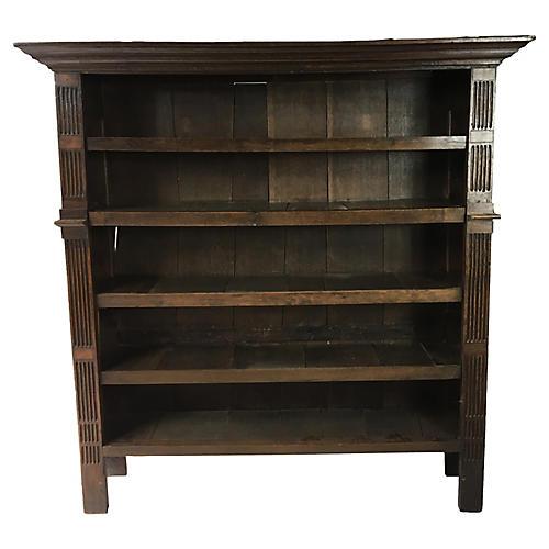 19th-C. English Oak Bookcase