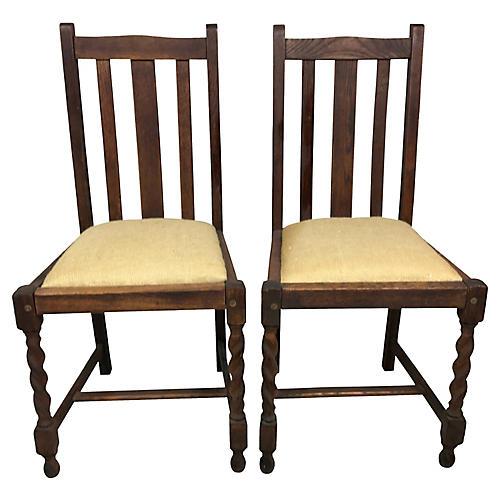 Barley Twist English Chairs, S/2