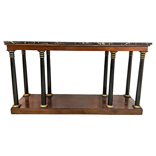 Neoclassical Style Marble Top Console