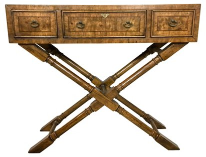 Stupendous Henredon Campaign Style Console Table Von Meyer Ltd Top Andrewgaddart Wooden Chair Designs For Living Room Andrewgaddartcom