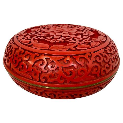 Cinnabar Lacquerware Lidded Bowl