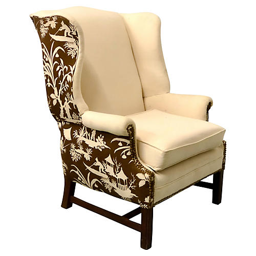 Chinoiserie Wing Chair