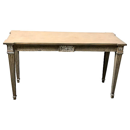 Silver Gilt French Style Console Table