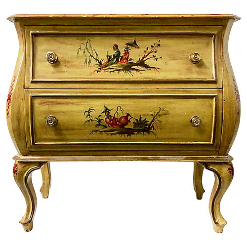 Italian Chinoiserie Painted Chest