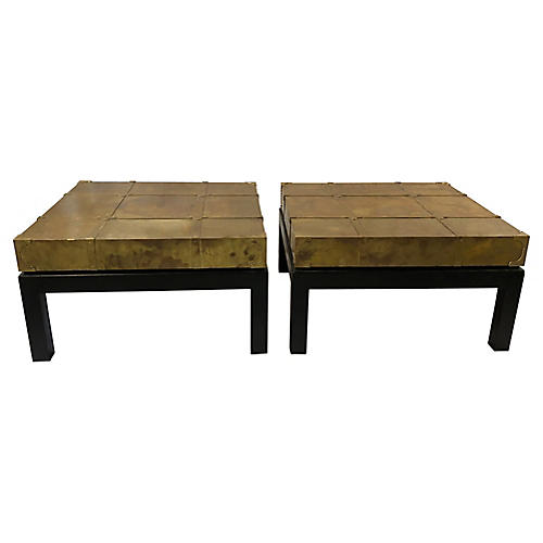 Sarreid Asian Modern Tables,Pair