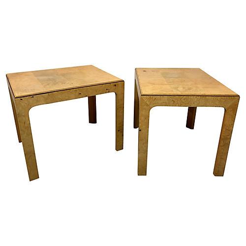 Henredon Burl Side Tables,Pair