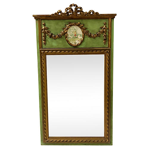 Gilded French Trumeau Mirror