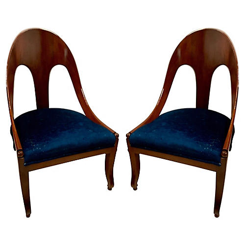 Michael Taylor for Baker Spoon Chairs,2