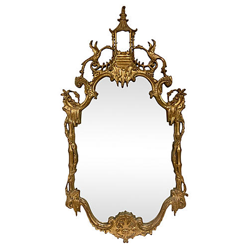 Chippendale Style Giltwood Mirror