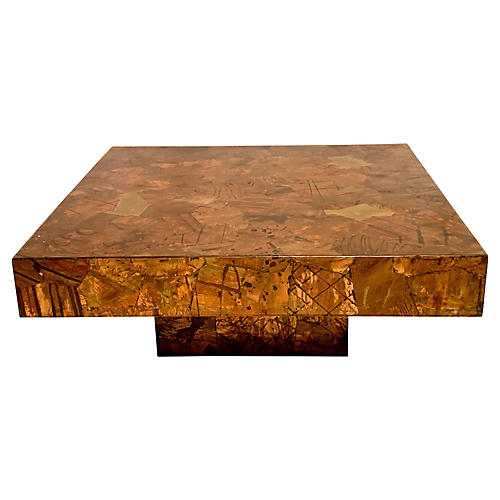 Modern Paul Evans Style Coffee Table