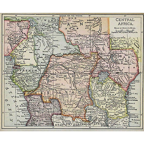Central Africa w/ Colonies, 1900