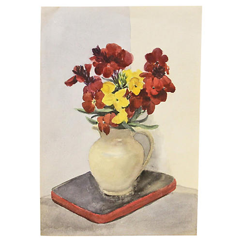 Flowers in Vase Still Life, C. 1940