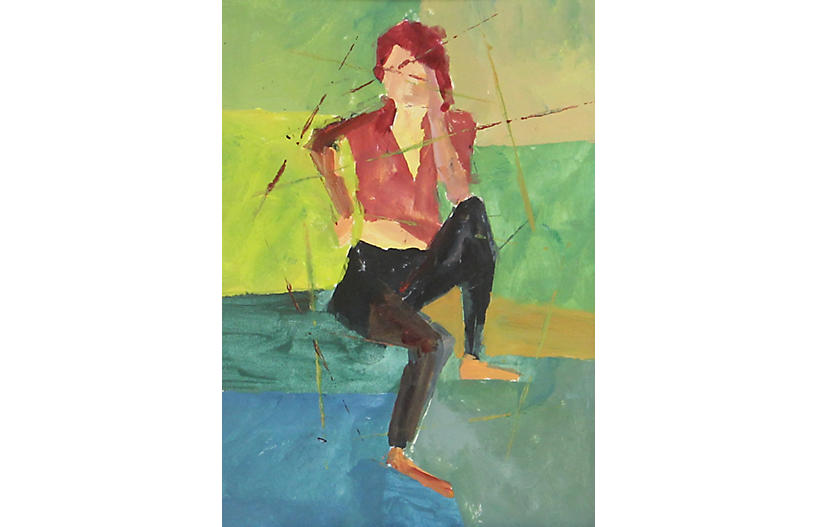 Abstract Seated Female