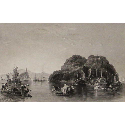 Silver Island on the River, 1843