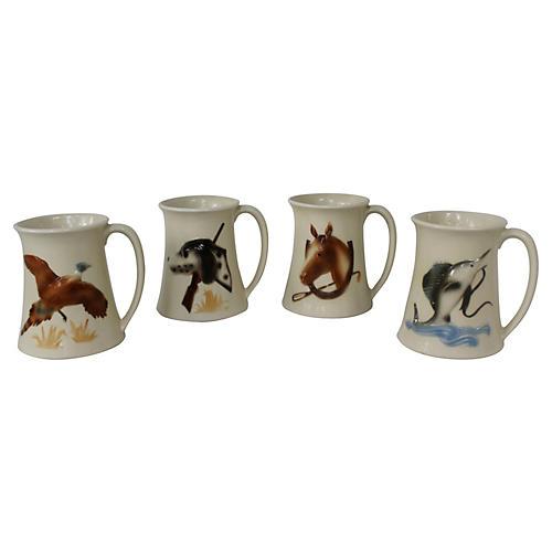 Sporting Mugs, Set of 4