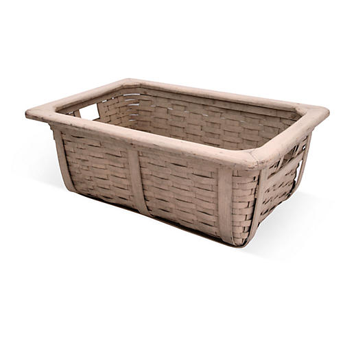 White Wood/Splint Basket