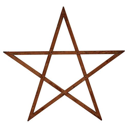 Square Nailed Wood Star