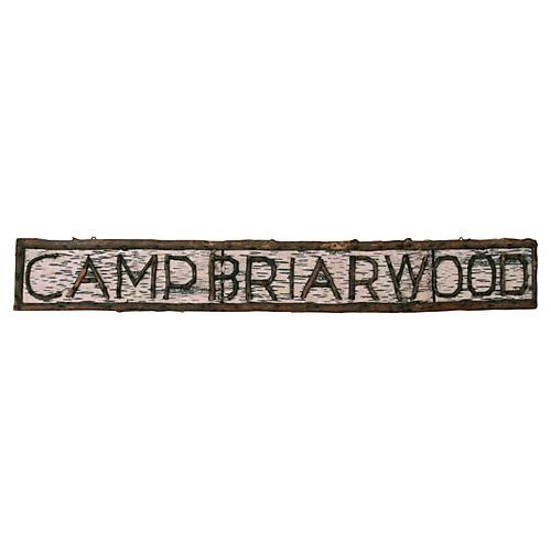 Camp Briarwood Birchbark Sign