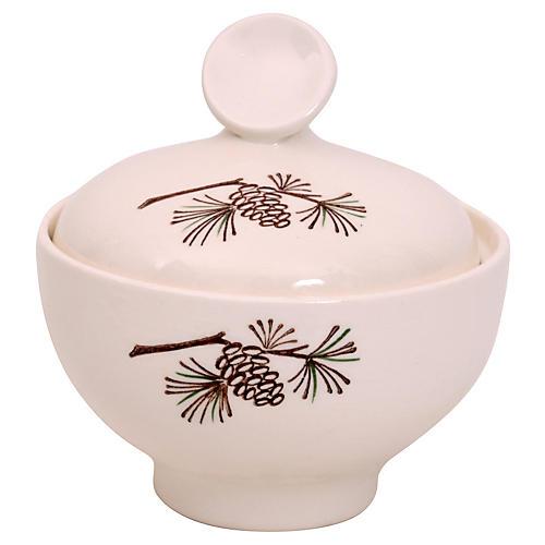 Sugar Bowl w/pinecone
