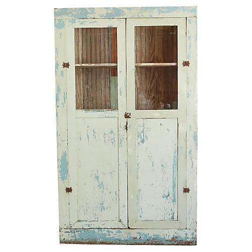 Pale Green 2-Door Cabinet