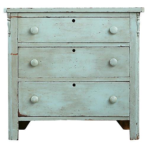 Light Blue Farmhouse-Style Dresser