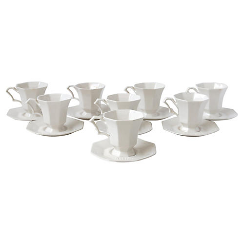 8 Piece Saucer and T-Cup Set