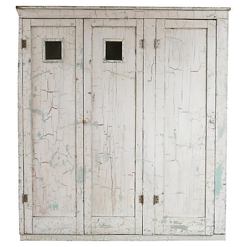 White Locker Cabinet