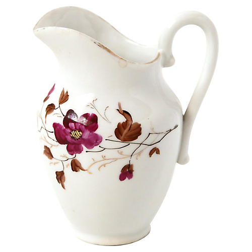 Small Ceramic Floral Pitcher
