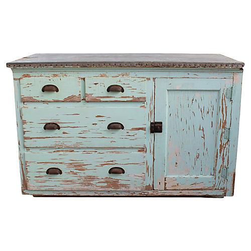 Farmhouse Aqua Dresser