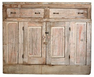 Farmhouse Natural Pink Console