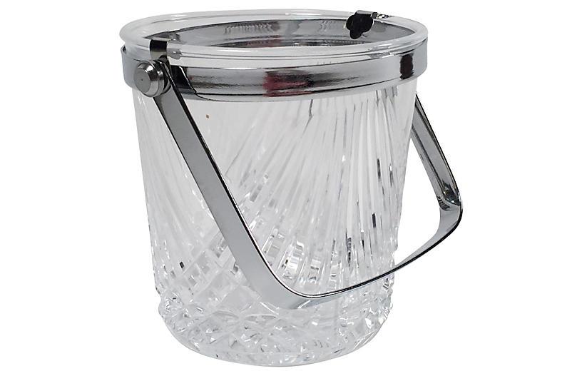 Crystal & Chrome Ice Bucket