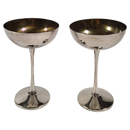 Leonara Silver-Plated Goblets, S/2