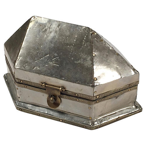Decorative Tin Covered Box