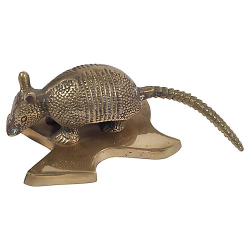 Brass Texas Armadillo Figurine