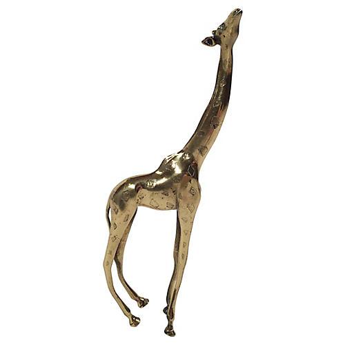 Brass Giraffe Figure