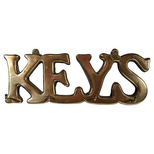 Brass Wall Key Holder