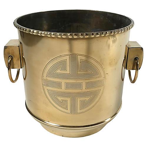 Asian Brass Planter