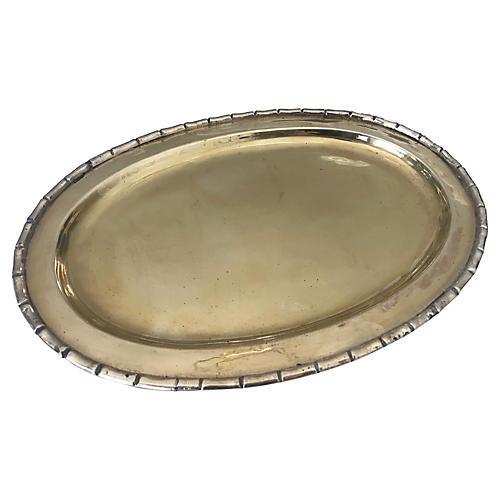 Bamboo-Style Brass Tray