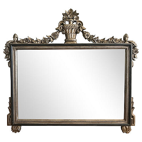 Carved Rosewood Wall Mirror