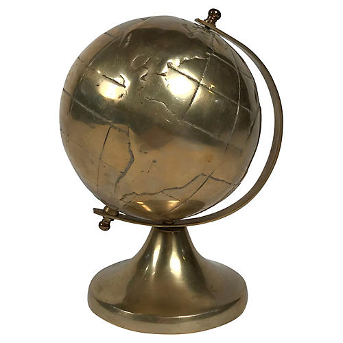 Brass Globe on Stand