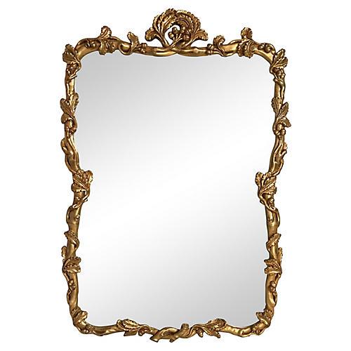 Floral Framed Gilt Mirror