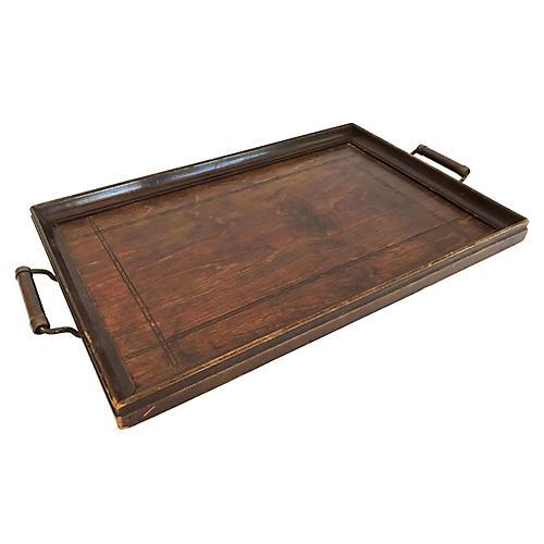 Wood Handled Tray