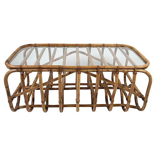 Architectural Bamboo Coffee Table