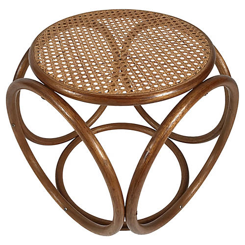 Bentwood & Cane Footstool