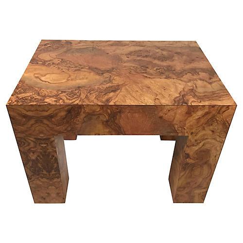 Faux Burl Wood Accent Table