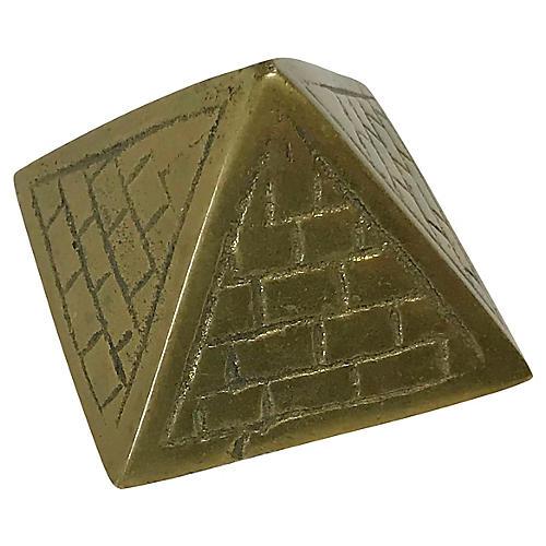 Petite Brass Pyramid Paper Weight