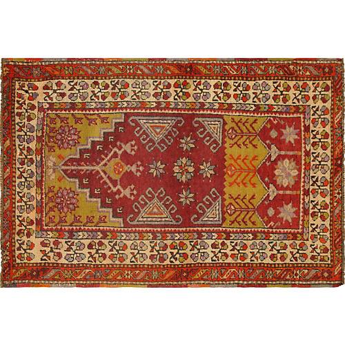 """Anatolian Oushak Rug, 2'10"""" x 4'4"""""""