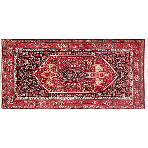 "Persian Bijar Rug, 4'2"" x 8'9"""