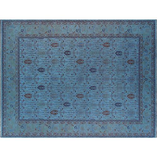 "Turkish Overdyed Carpet, 10' x 13'5"""