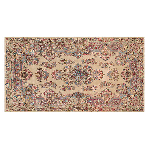 """Kerman Hand-Knotted Rug 3' 9"""" X 7' 3"""""""